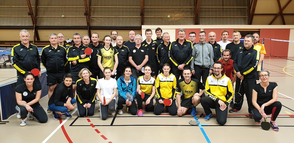 Match amical tennis de table badminton 2019